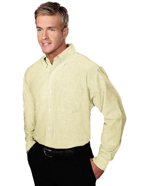 Tri-Mountain 750 Men Techno Stain-Resistant Long-Sleeve Oxford Shirt at GotApparel