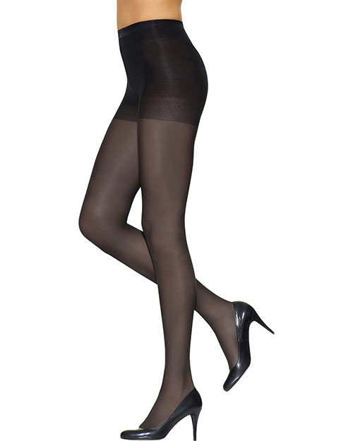 Leggs 76000 Women Silken Mist Control Top SemiOpaque Leg, Enhanced Toe Pantyhose at GotApparel