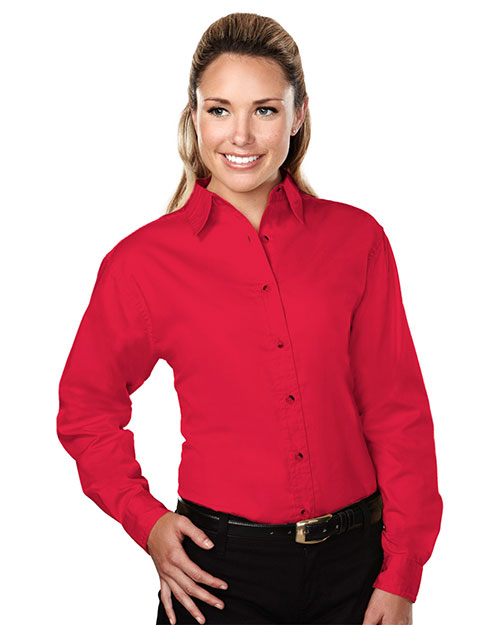Tri-Mountain 762 Women Specialist Stain-Resistant Twill Shirt at GotApparel