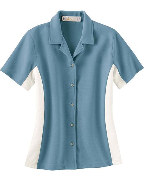 Il Migliore 77016 Women Knit Ottoman ColorBlock Camp Shirt at GotApparel