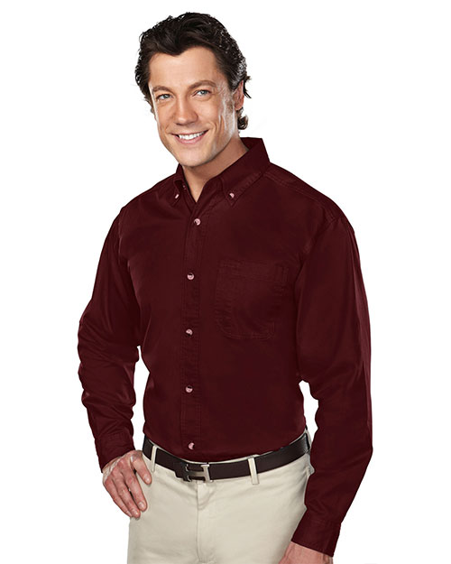 Tri-Mountain 770 Men Professional Stain-Resistant Long-Sleeve Shirt at GotApparel