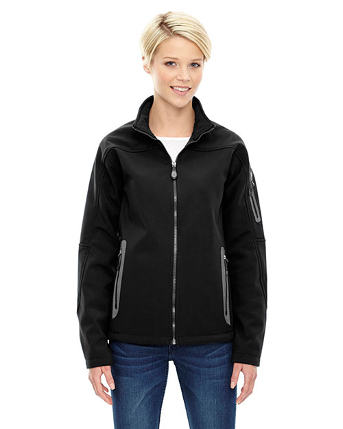 North End 78060 Women Three-Layer Fleece Bonded Soft Shell Technical Jacket at GotApparel