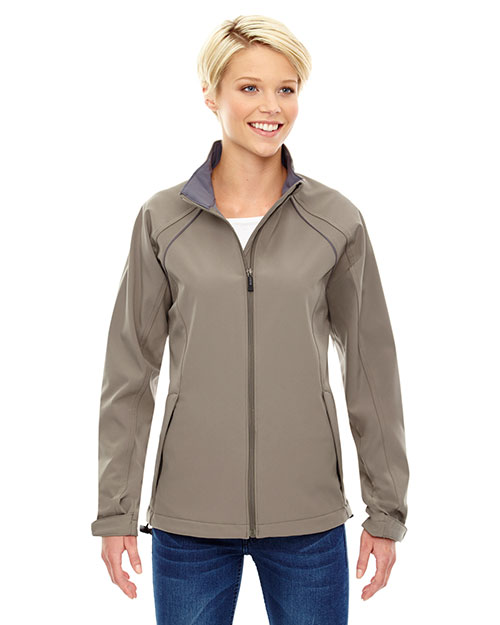 North End 78075 Women Three-Layer Light Bonded Soft Shell Jacket at GotApparel