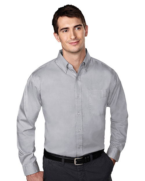 Tri-Mountain 780 Men Chairman Wrinkle Free Pinpoint Oxford Shirt at GotApparel