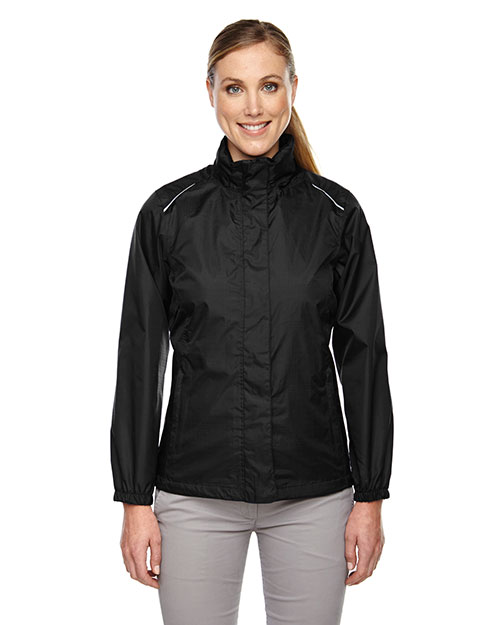 Core 365 78185 Women Climate Seam-Sealed Lightweight Variegated Ripstop Jacket at GotApparel