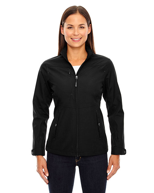 North End 78212 Women Forecast Three-Layer Light Bonded Travel Soft Shell Jacket at GotApparel