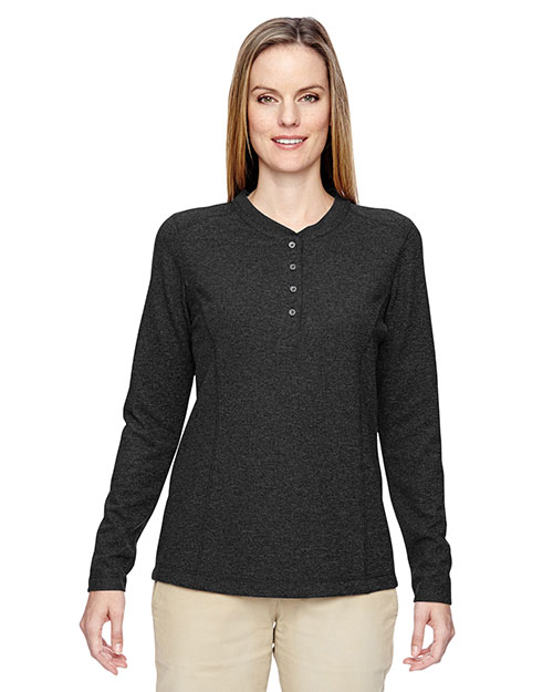 North End 78221 Women Excursion Nomad Performance Waffle Henley at GotApparel