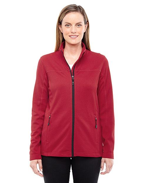 North End 78229 Women Torrent Interactive Textured Performance Fleece Jacket at GotApparel