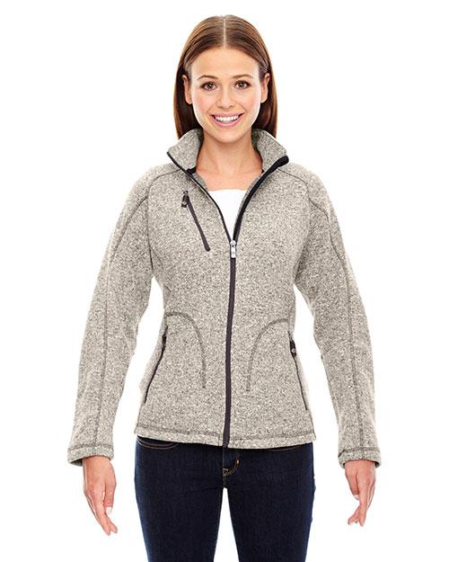North End 78669 Women Peak Sweater Fleece Jacket at GotApparel