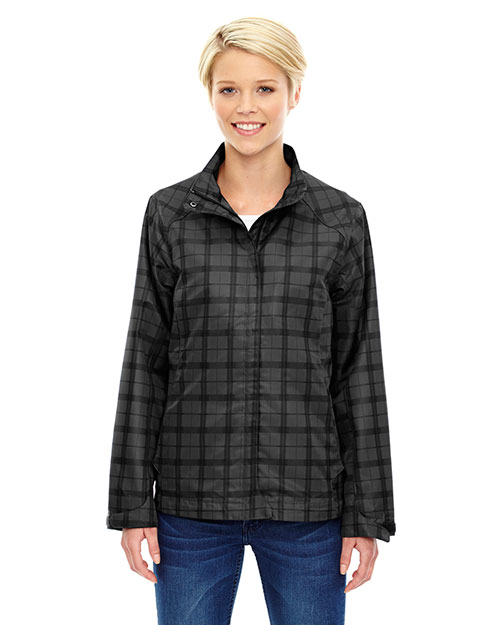 North End 78671 Women Locale Lightweight City Plaid Jacket at GotApparel