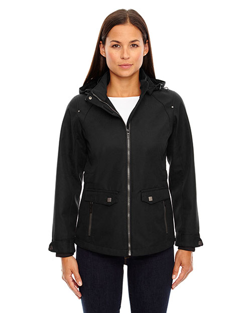 North End 78672 Women Uptown Three-Layer Light Bonded City Textured Soft Shell Jacket at GotApparel