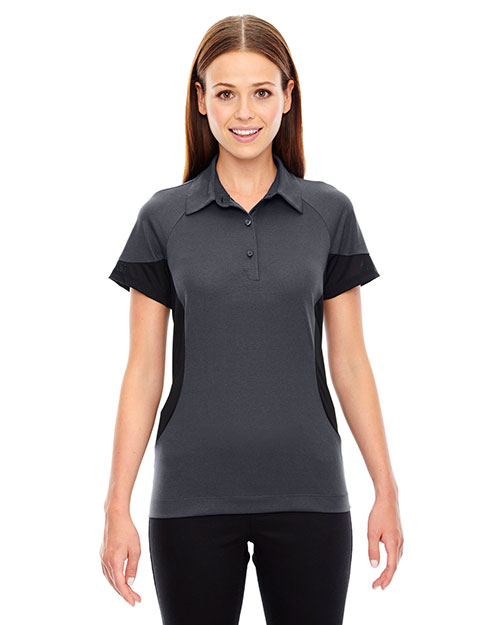 North End 78677 Women Refresh Utk Cool.Logik  Coffee Performance Melange Jersey Polo at GotApparel
