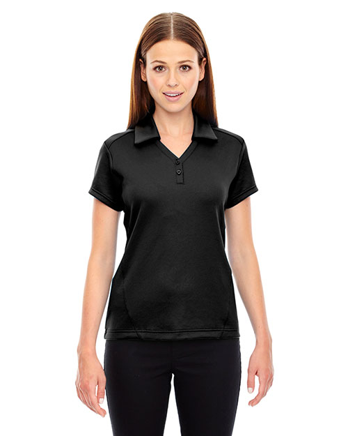 North End 78803 Women Exhilarate Coffee Charcoal Performance Polo With Back Pocket at GotApparel