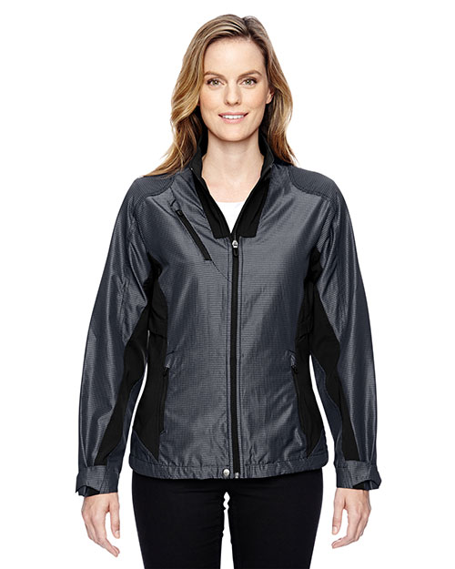 North End 78807 Women Interactive Aero Two-Tone Lightweight Jacket at GotApparel