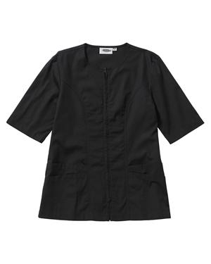 Edwards 7887 Women Housekeeping Short-Sleeve Zip Front Smock Tunic at GotApparel