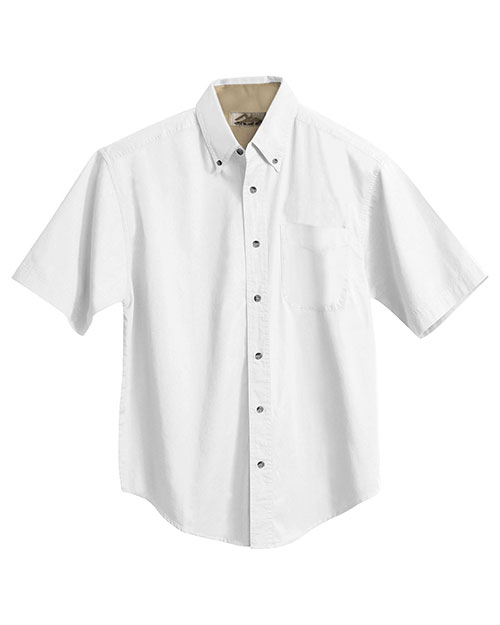 Tri-Mountain 788 Men Valor Cotton Short-Sleeve Peached Twill Shirt at GotApparel