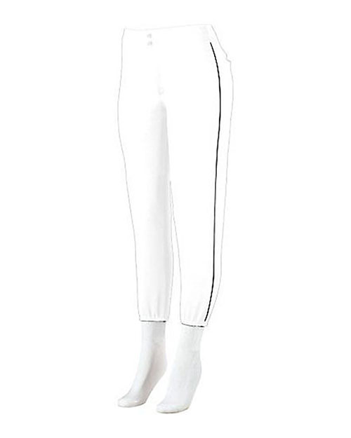 Augusta 822 Women Low-Rise Softball Pant With Piping at GotApparel