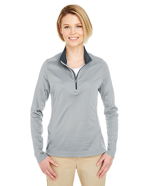 UltraClub 8230L Women Cool & Dry Sport 1/4-Zip Pullover at GotApparel