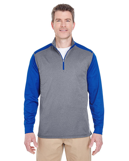 Ultraclub 8232 Men Cool & Dry Sport 2-Tone 1/4-Zip Pullover at GotApparel