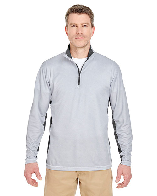 Ultraclub 8237 Adult 2-Tone Keyhole Mesh 1/4-Zip Pullover at GotApparel
