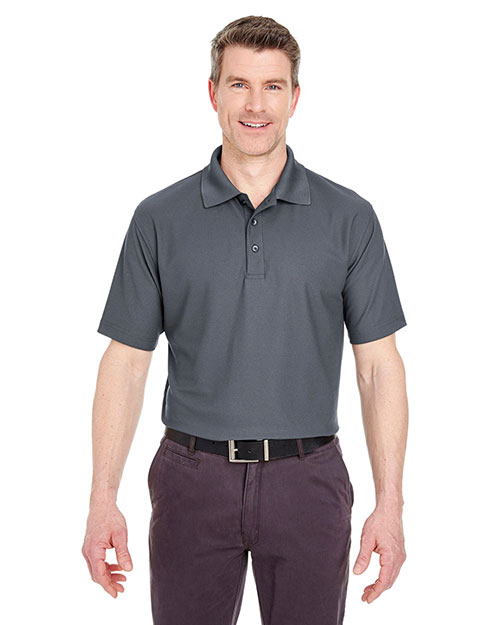 UltraClub 8240 Men Cool & Dry Pebble Knit Polo at GotApparel