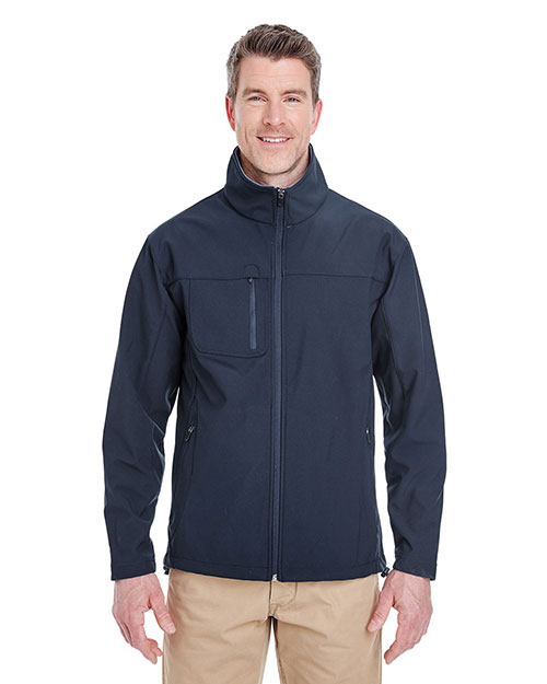 UltraClub 8280 Men Ripstop Soft Shell Jacket with Cadet Collar at GotApparel