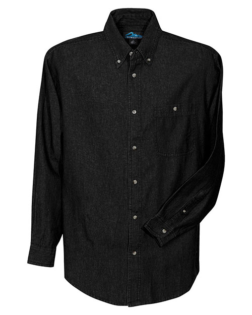 Tri-Mountain 829 Men Pioneer Denim Long-Sleeve Shirt at GotApparel