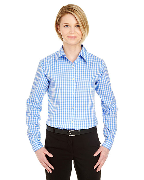 UltraClub 8385L Women MediumCheck Woven at GotApparel