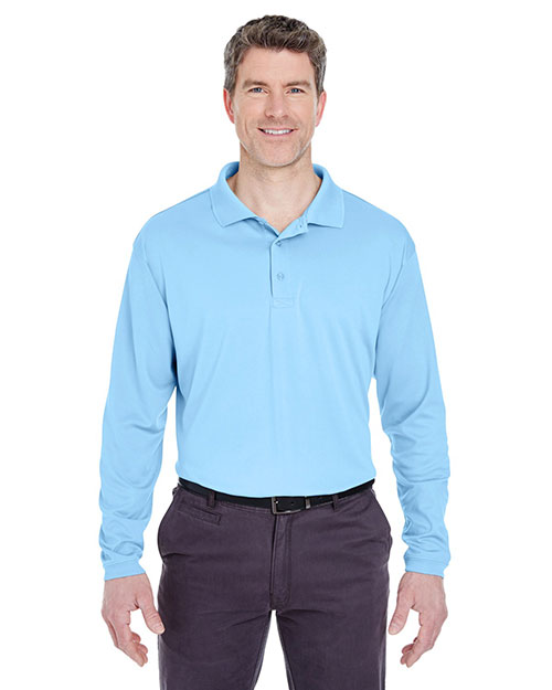 Ultraclub 8405LS Men Cool & Dry Sport Long-Sleeve Polo at GotApparel
