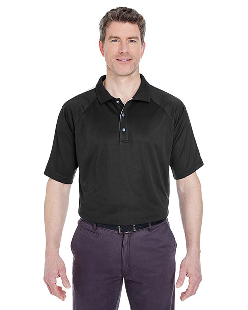 UltraClub 8409 Men Cool & Dry Sport Shoulder Block Polo at GotApparel