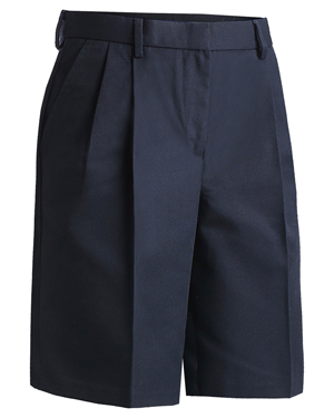 Edwards 8419 Women Moisture Wicking One Back Pocket Pleated Chino Zipper at GotApparel