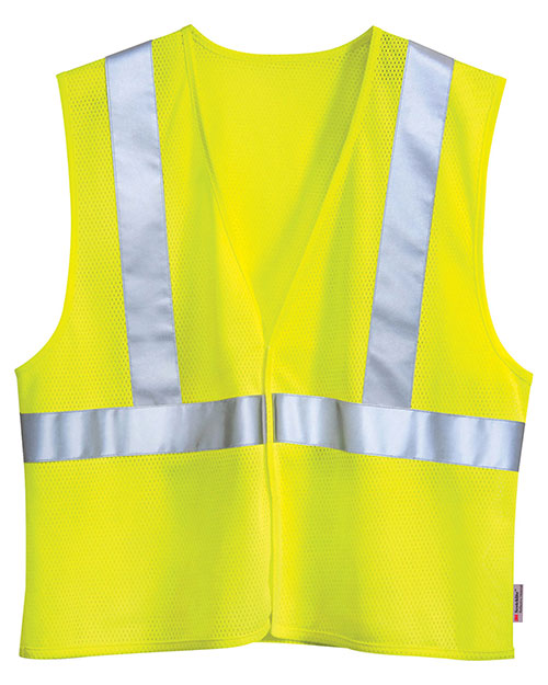 Tri-Mountain 8430 Men Zone Polyester Safety Vest Ansi Class 2 / Level at GotApparel