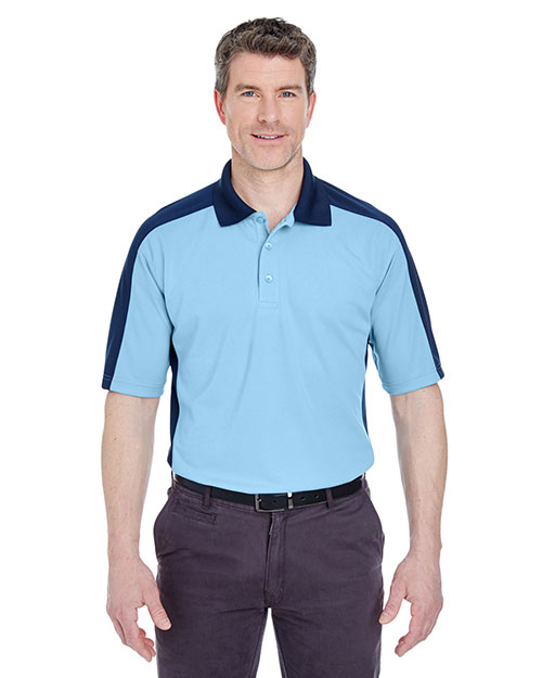 Ultraclub 8447 Adult Cool & Dry Stain-Release 2tone Performance Polo at GotApparel