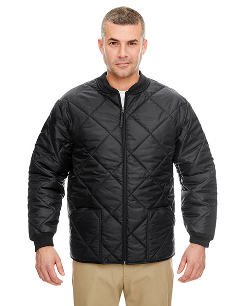 UltraClub 8467 Men Puffy Workwear Jacket With Quilted Lining at GotApparel