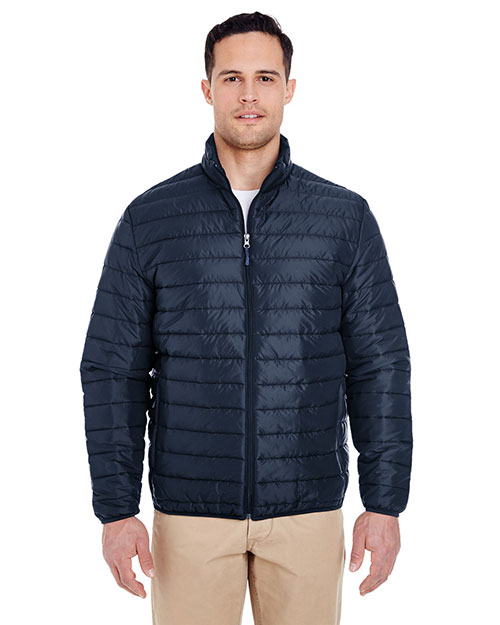UltraClub 8469 Men Quilted Puffy Jacket at GotApparel