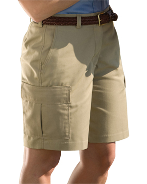 Edwards 8473 Women Moisture Wicking Two Cargo Pocket Short at GotApparel