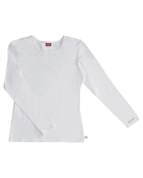 Dickies Medical 84770 Women Long Sleeve Underscrub Knit Tee at GotApparel