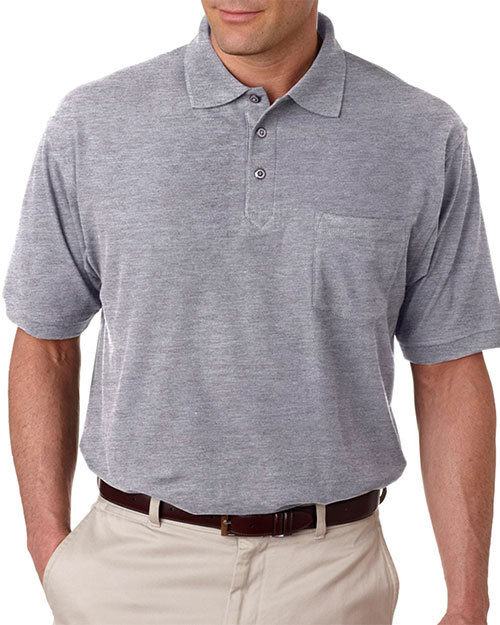 UltraClub 8544 Men Whisper Pique Polo with Pocket at GotApparel