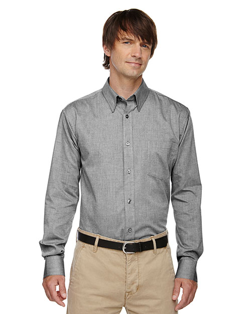 North End 87036 Men Yarn-Dyed Wrinkle-Resistant Dobby Shirt at GotApparel