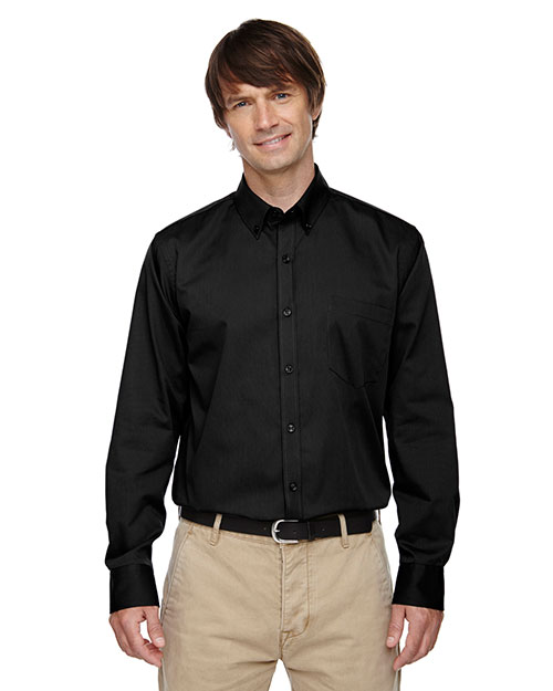 North End 87041 Men Establish Wrinkle-Resistant Cotton Blend Dobby Stripe Shirt at GotApparel