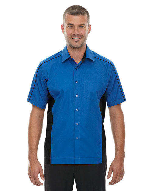 North End 87042T Men Tall Fuse Colorblock Twill Shirt at GotApparel