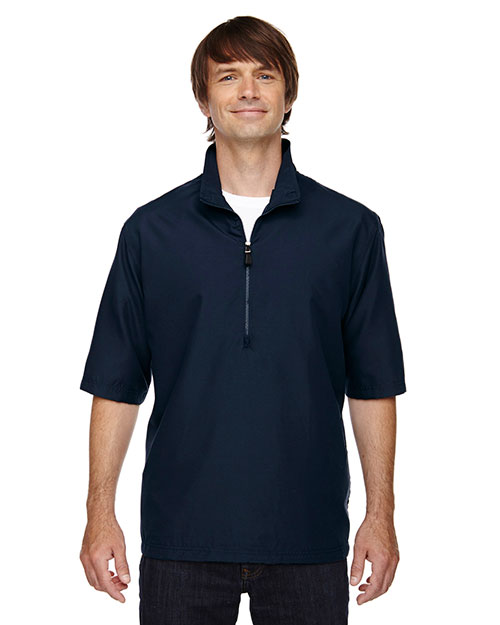 North End 88084 Men M·I·C·R·O Plus Lined short sleeve Wind Shirt with Teflon at GotApparel