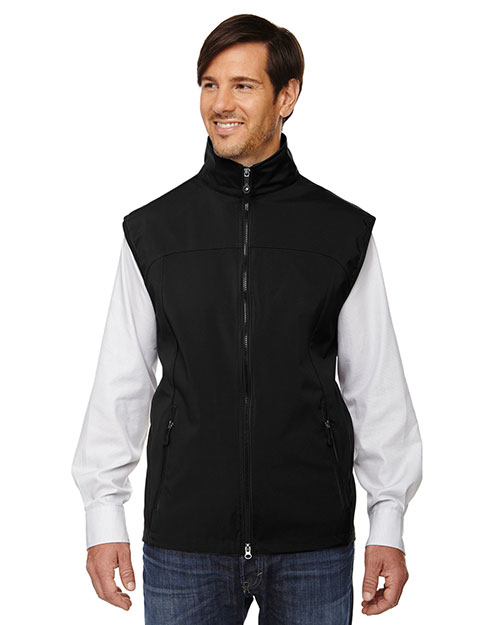 North End 88127 Men Three-Layer Light Bonded Performance Soft Shell Vest at GotApparel