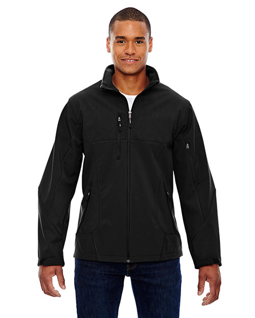 North End 88156 Men Compass Colorblock Three-Layer Fleece Bonded Soft Shell Jacket at GotApparel