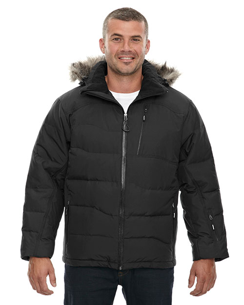 North End 88179 Men Boreal Down Jacket with Faux Fur Trim at GotApparel