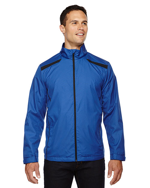 North End 88188 Men Tempo Lightweight Recycled Polyester Jacket with Embossed Print at GotApparel