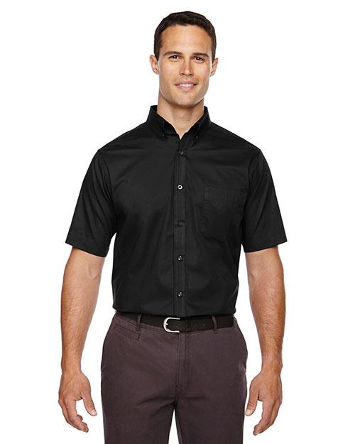 Core 365 88194 Men Optimum Short-Sleeve Twill Shirt at GotApparel