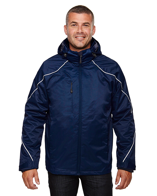 North End 88196T Men Tall Angle 3-in-1 Jacket with Bonded Fleece Liner at GotApparel