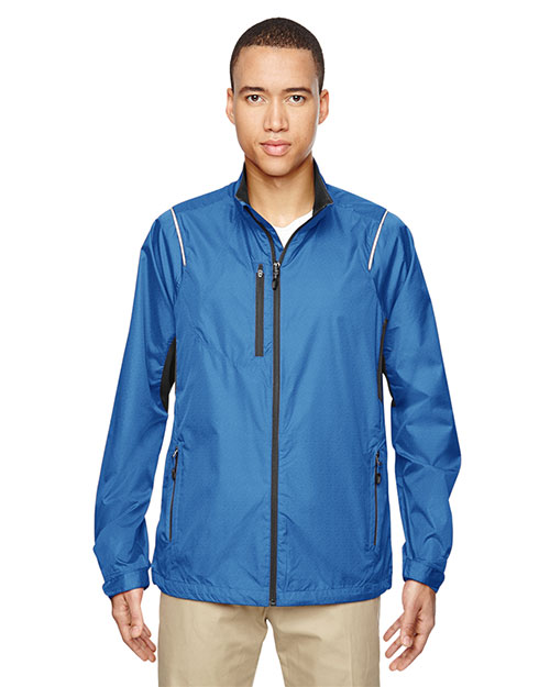 North End 88200 Men Sustain Lightweight Recycled Polyester Dobby Jacket with Print at GotApparel