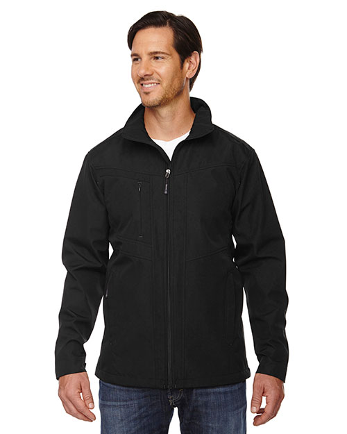 North End 88212 Men Forecast Three-Layer Light Bonded Travel Soft Shell Jacket at GotApparel